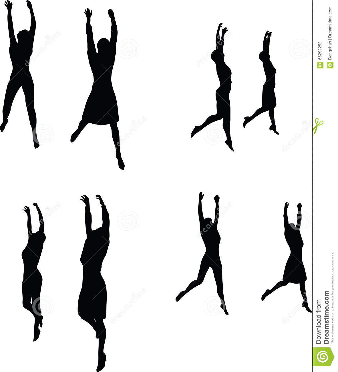 eps 10 vector illustration in silhouette of business woman hanging