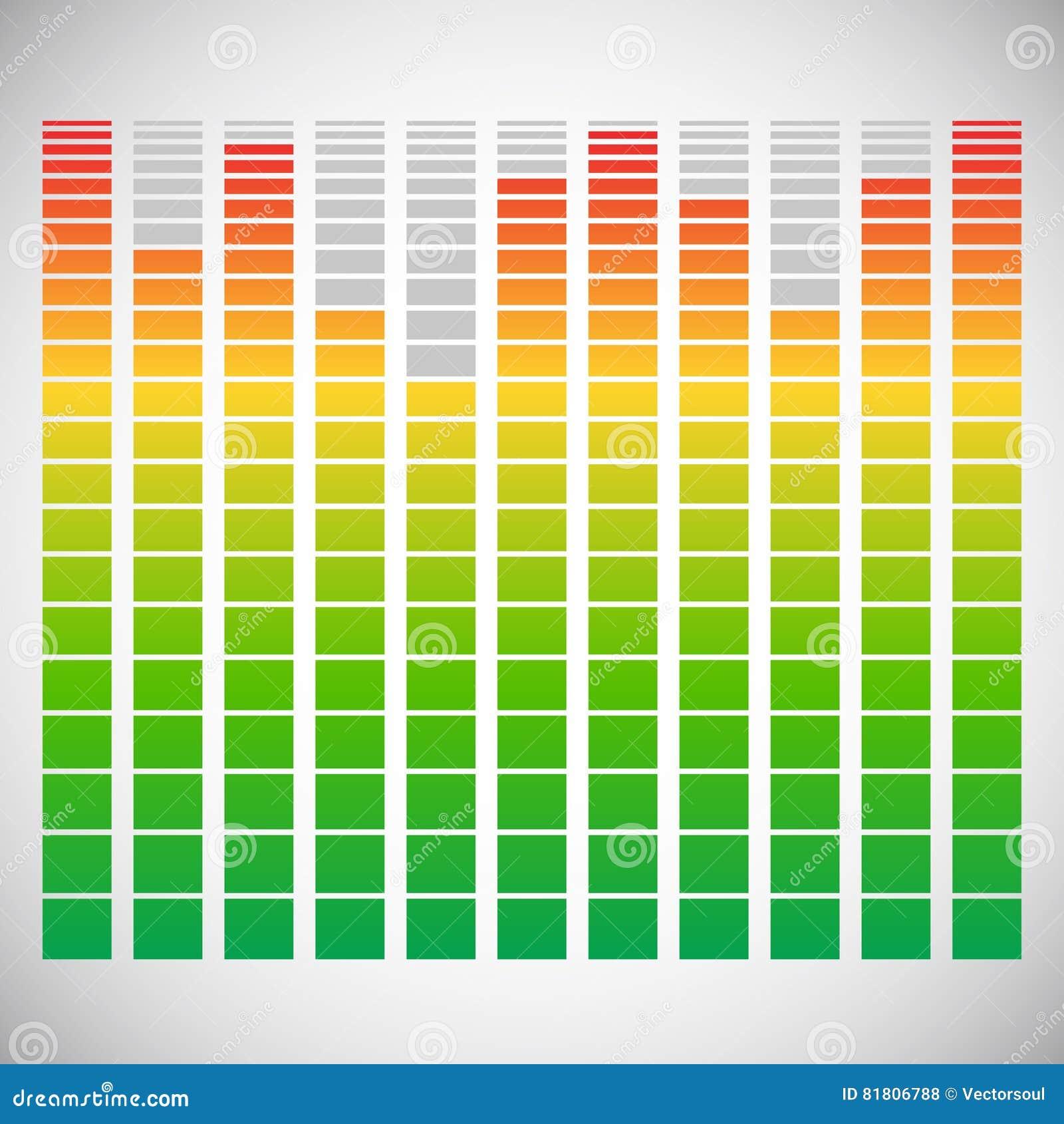 Eq, элемент выравнивателя для музыки связало дизайн