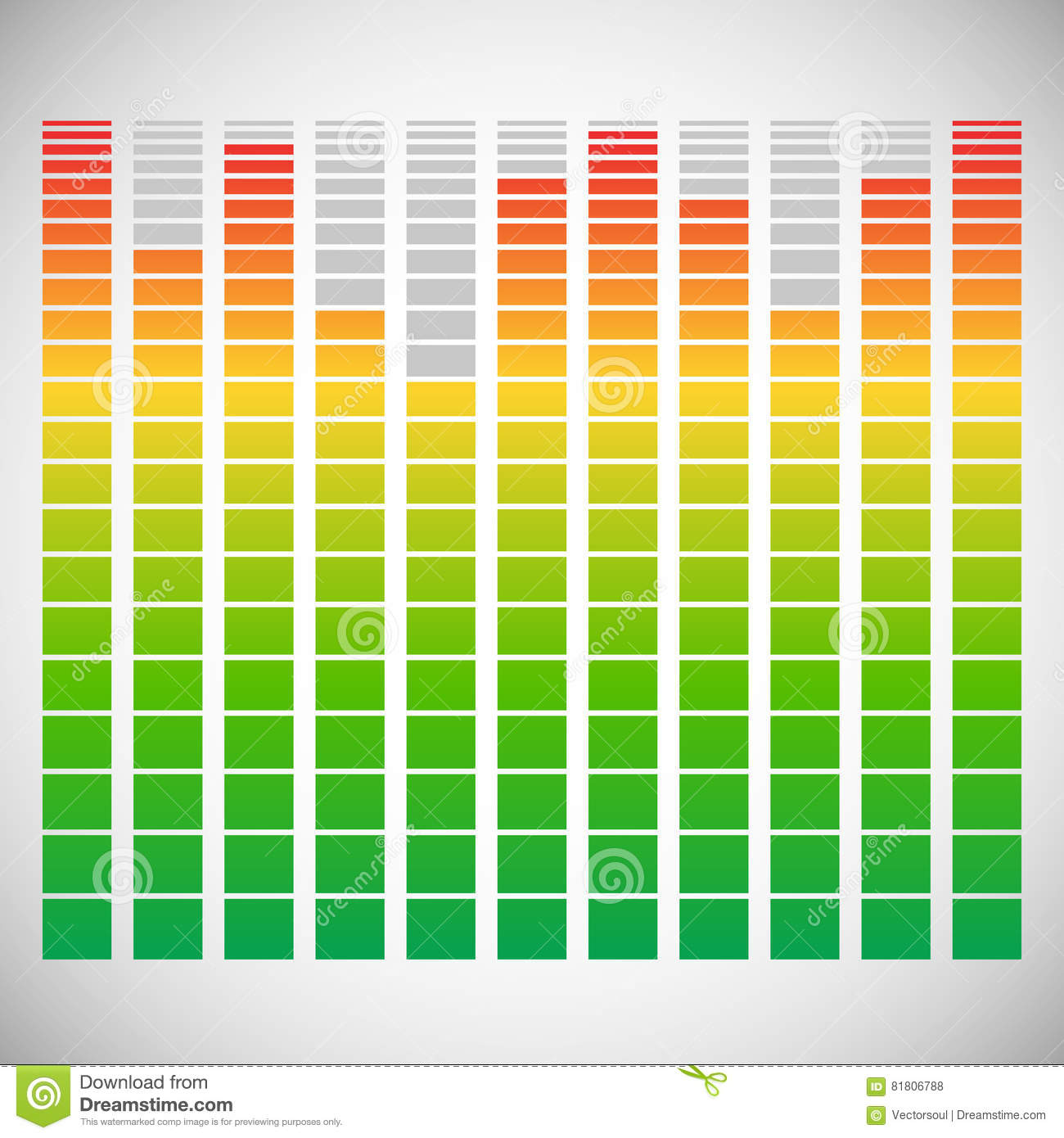 Eq, Equalizer Element For Music Related Design Stock Vector