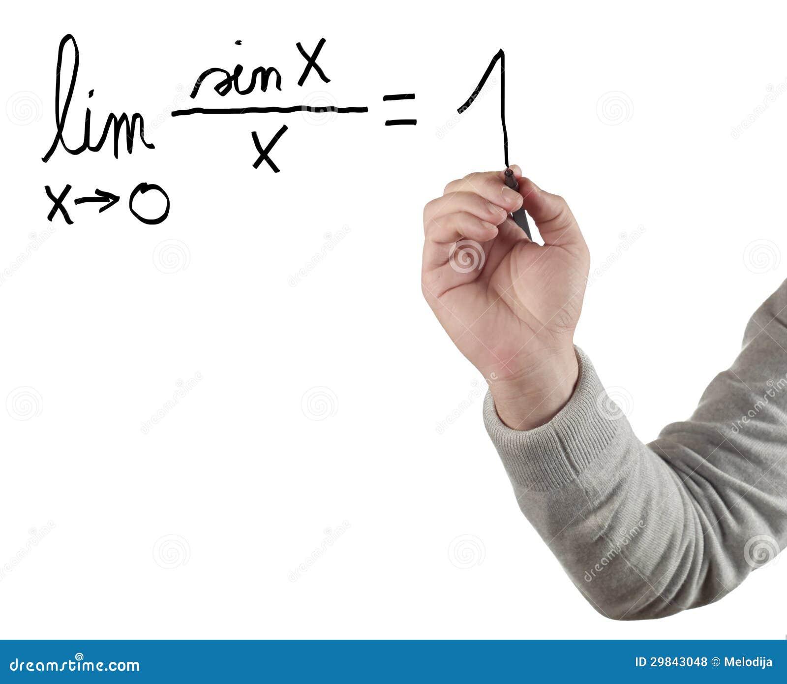 Equação do limite de desenho da mão.