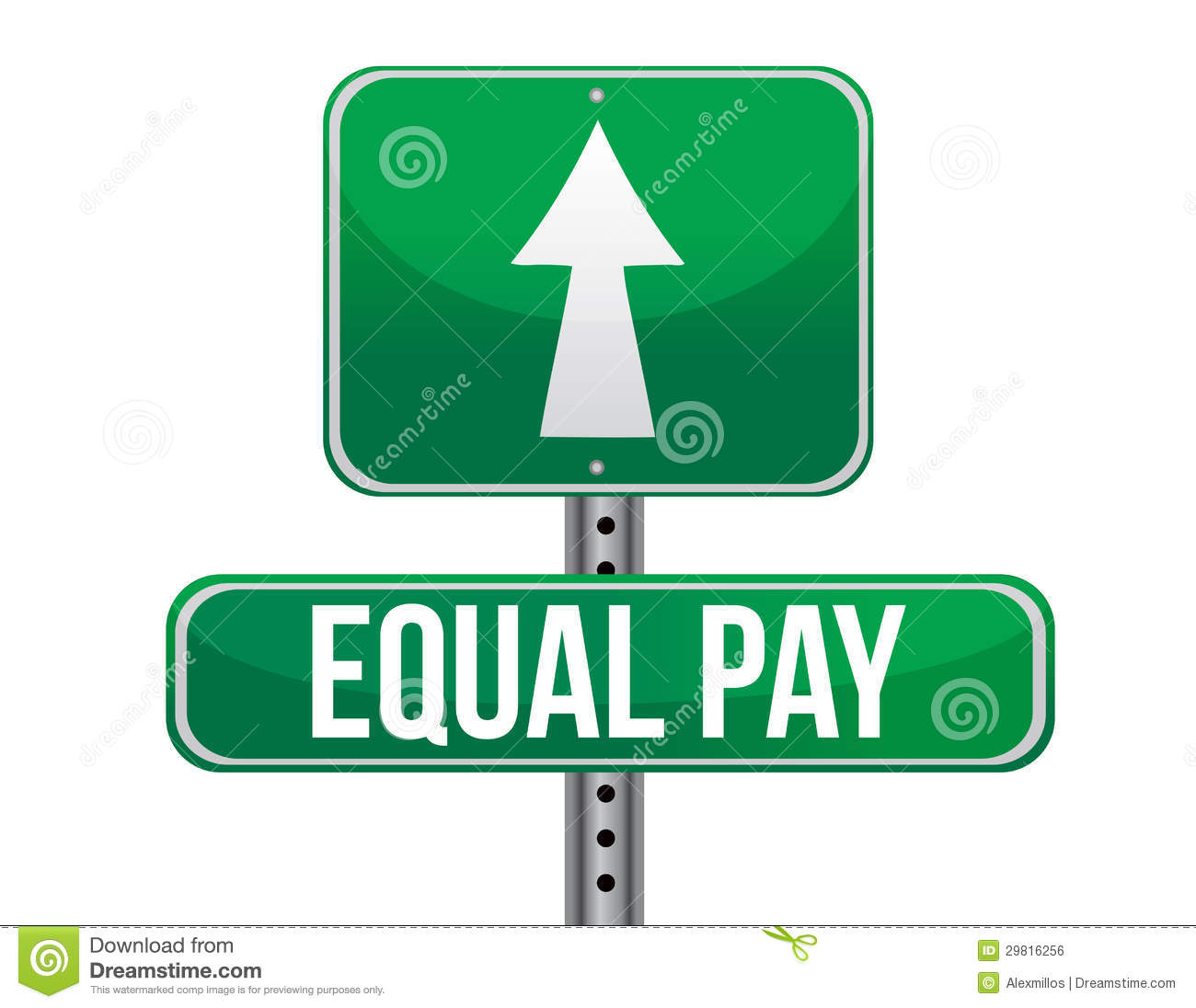 Equal Pay Road Sign Royalty Free Stock Image - Image: 29816256