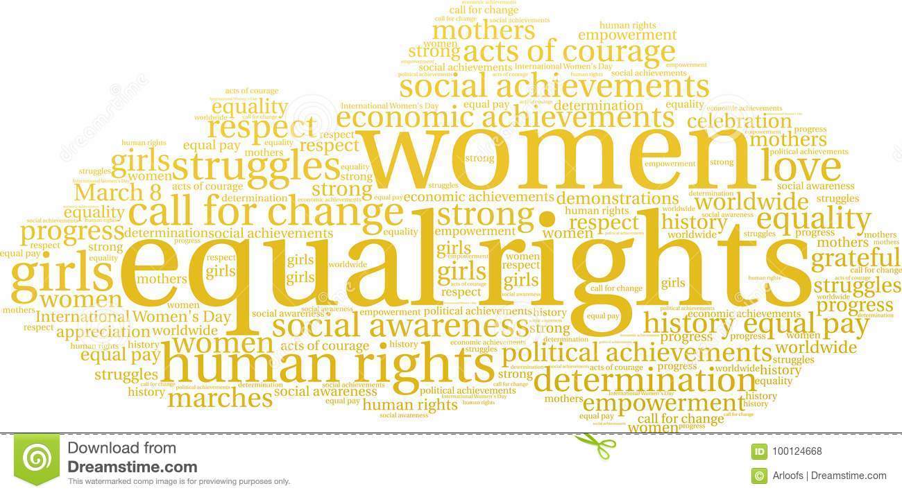 Download Equal Rights Word Cloud Stock Vector Il Ration Of Movement