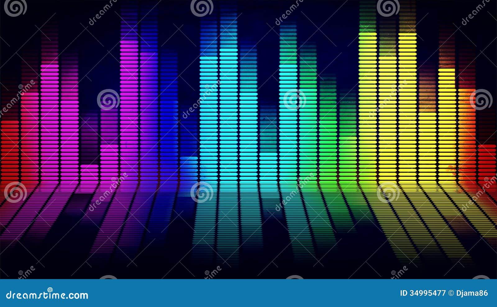 Equalizador da música