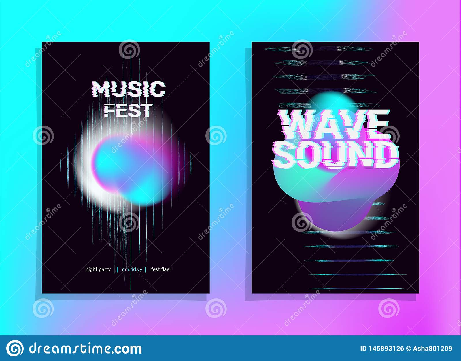 Equalizer Holographic Vaporwave Stock Vector Illustration Of Cover Beat 145893126