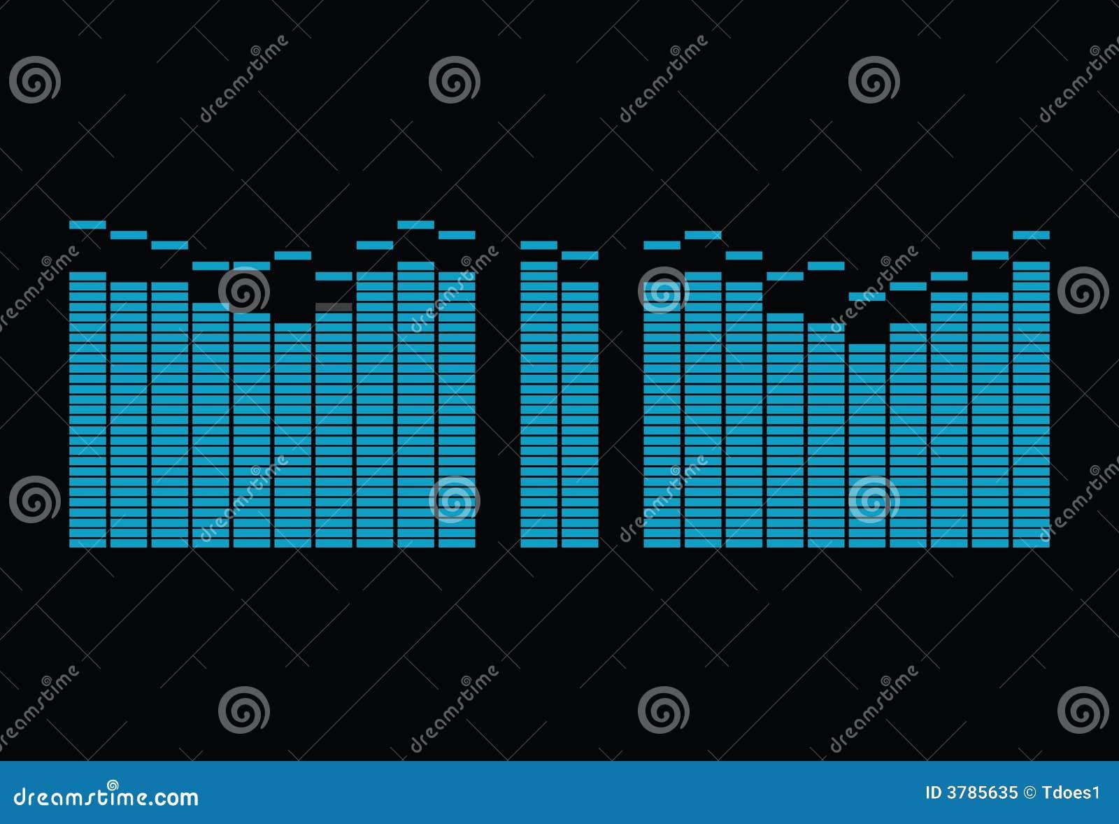 equalizer spectrum 1 stock illustration  illustration of music