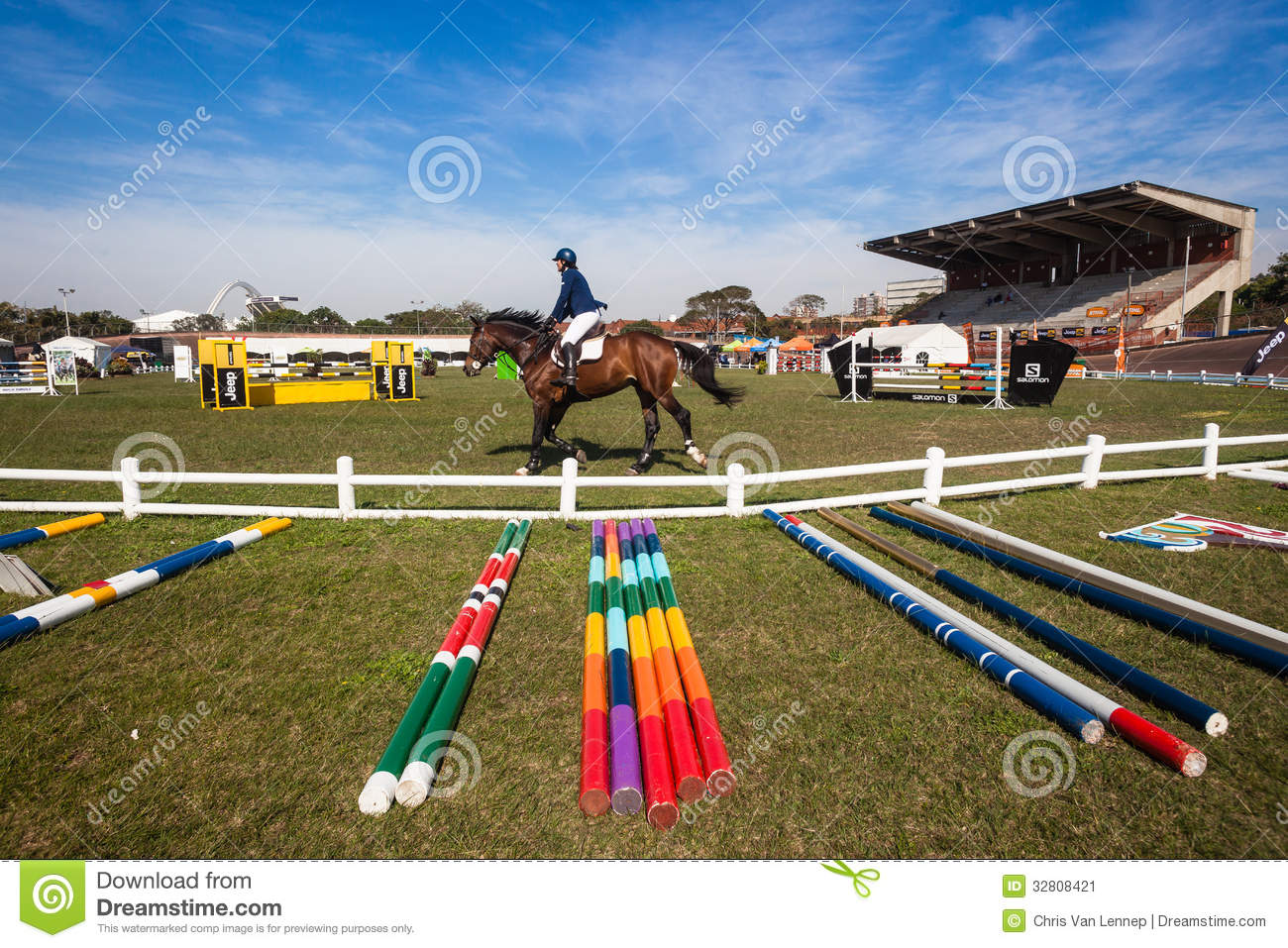 Equestrian Arena Horse Rider Gates Editorial Photo Image