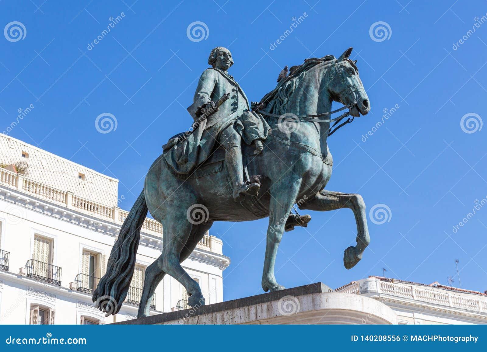 Equestrian statua Carlos III