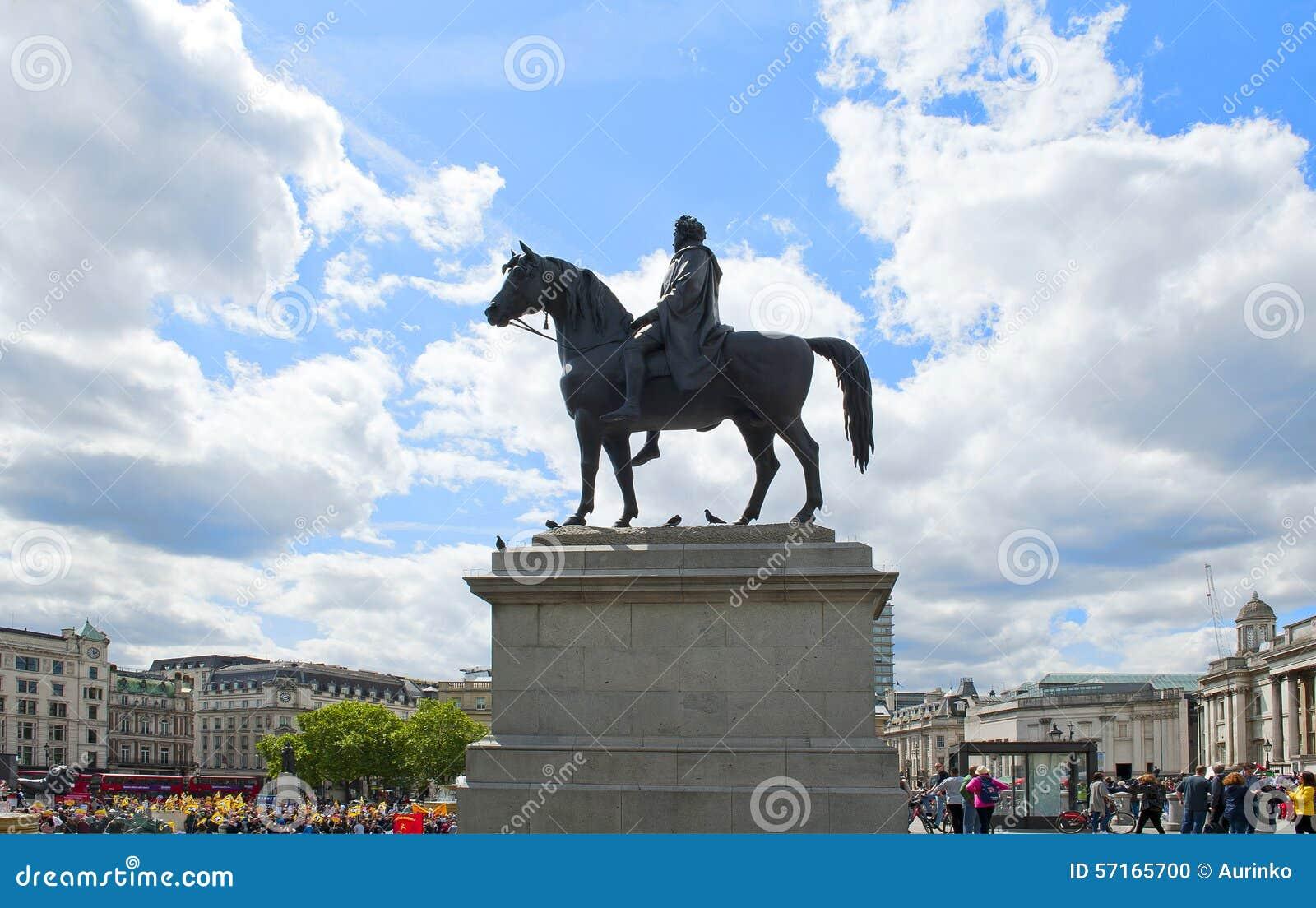 Equestrian statua królewiątko George IV