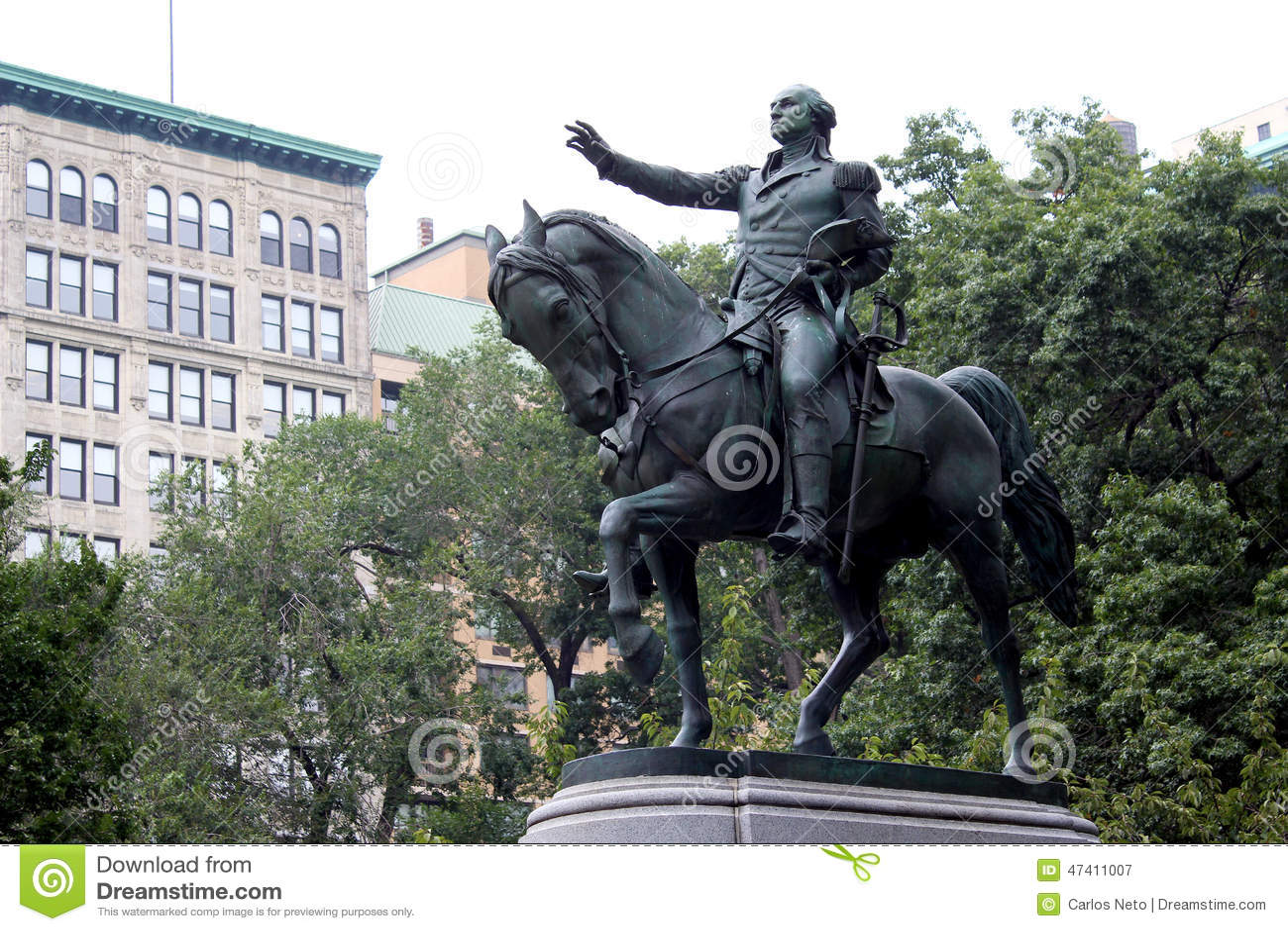 George Washington On A Horse Statue