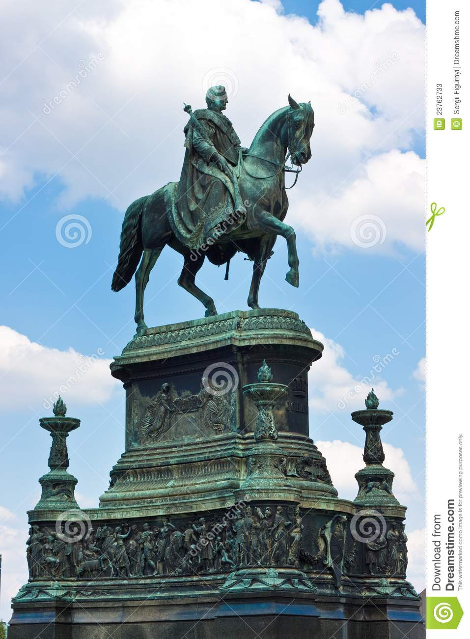 Equestrian Statue Of King John In Dresden Germany Stock