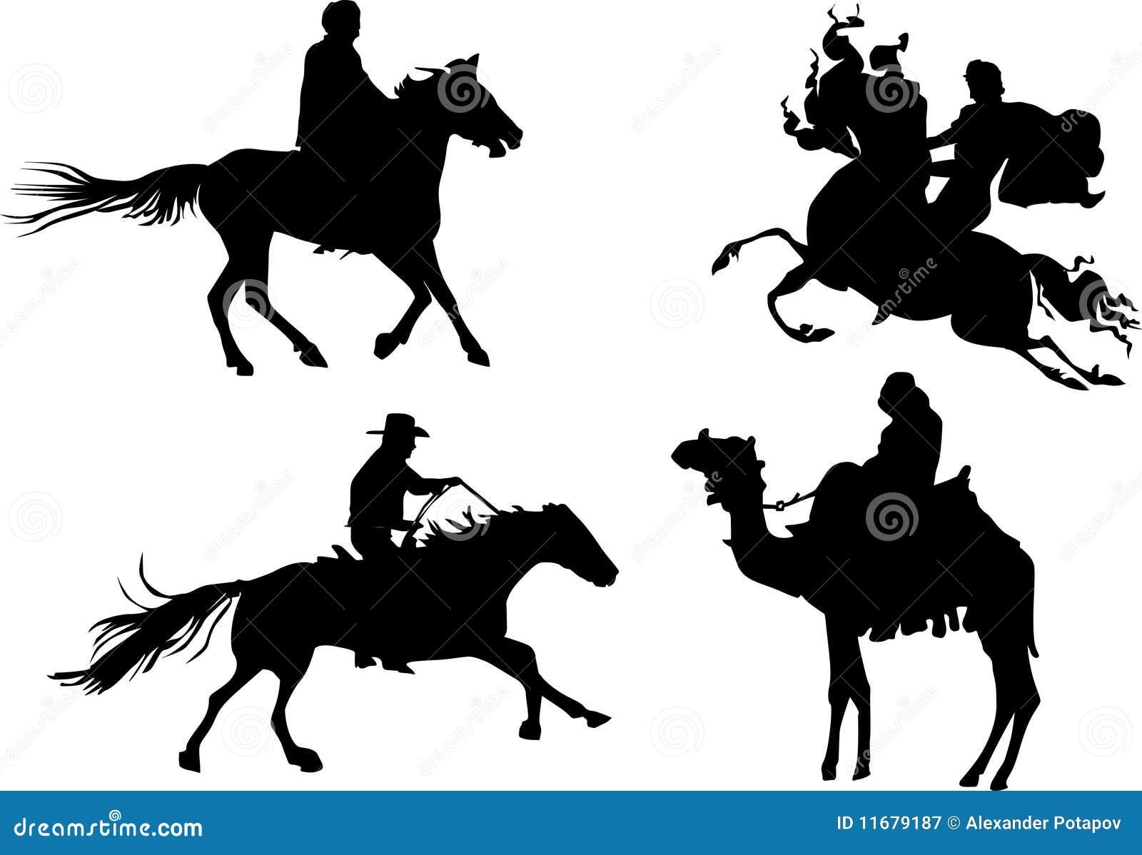 Equestrian sylwetki cztery