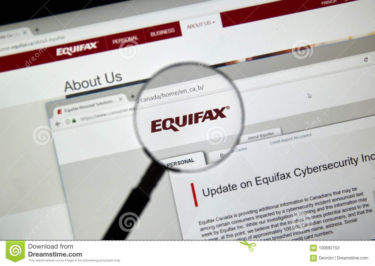 Equifax Canada home page