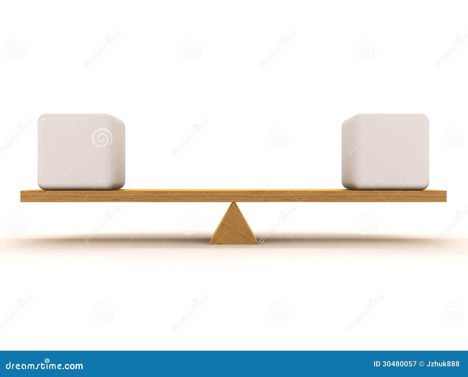 Balanza de equilibrio gimnasta desnuda