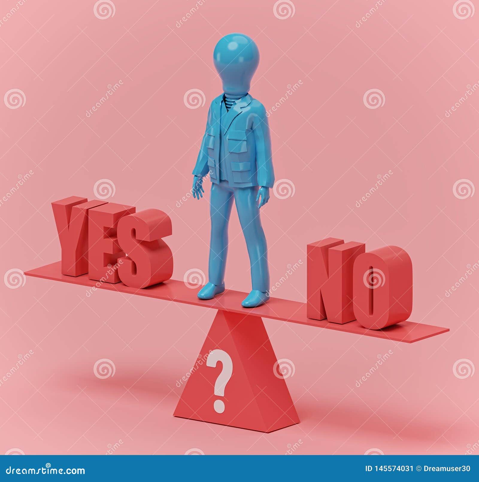 Equilibrio fra lo sì e non, rappresentazione 3d
