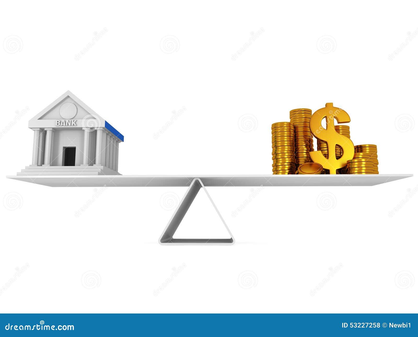 Equilibrio perfecto entre el banco y el dinero