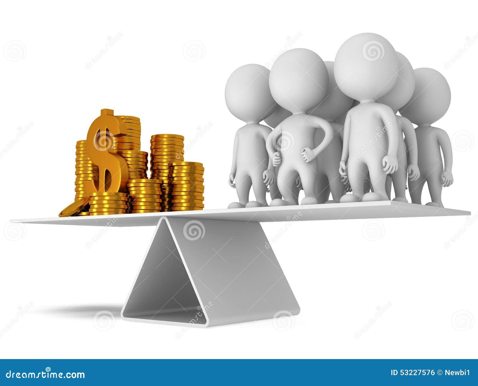 Equilibrio perfecto entre el dinero y la gente