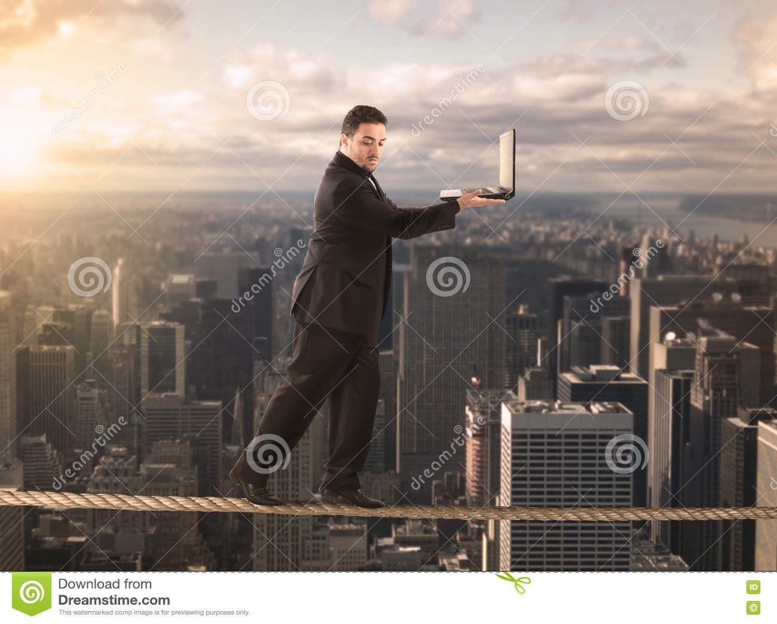 Equilibrist affärsman