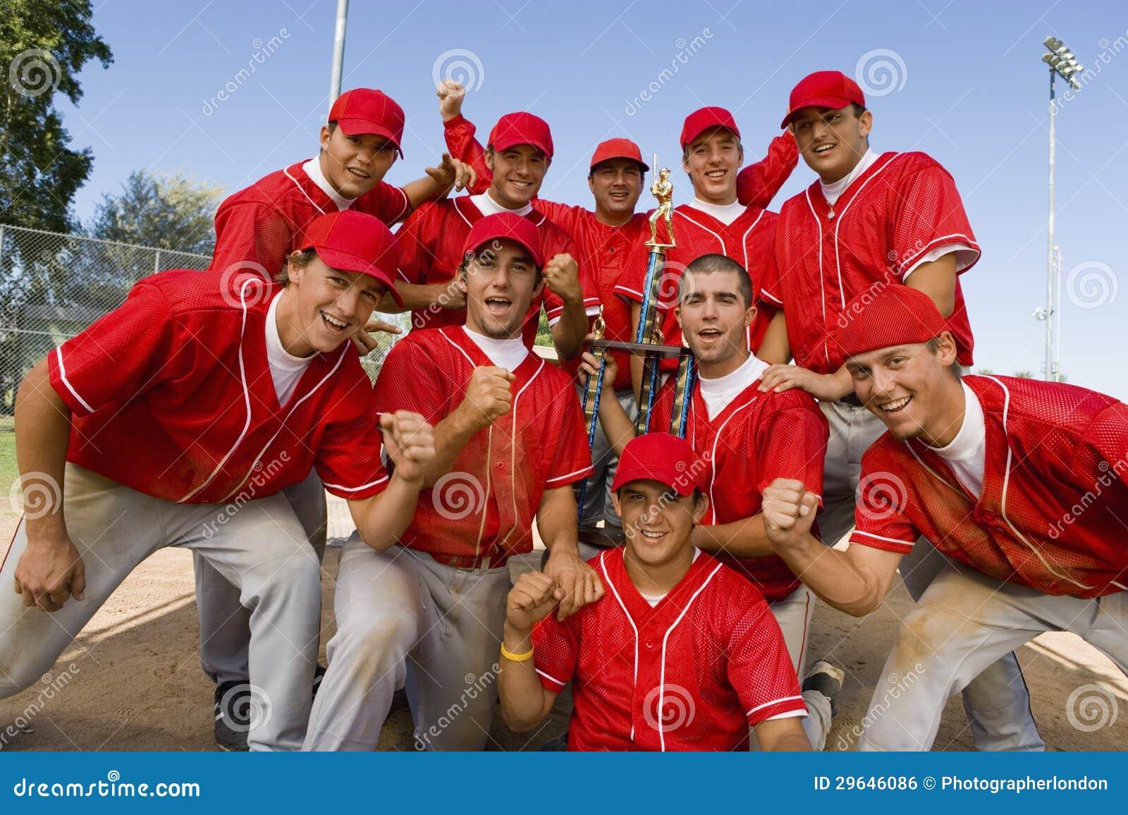 Equipa de beisebol Excited