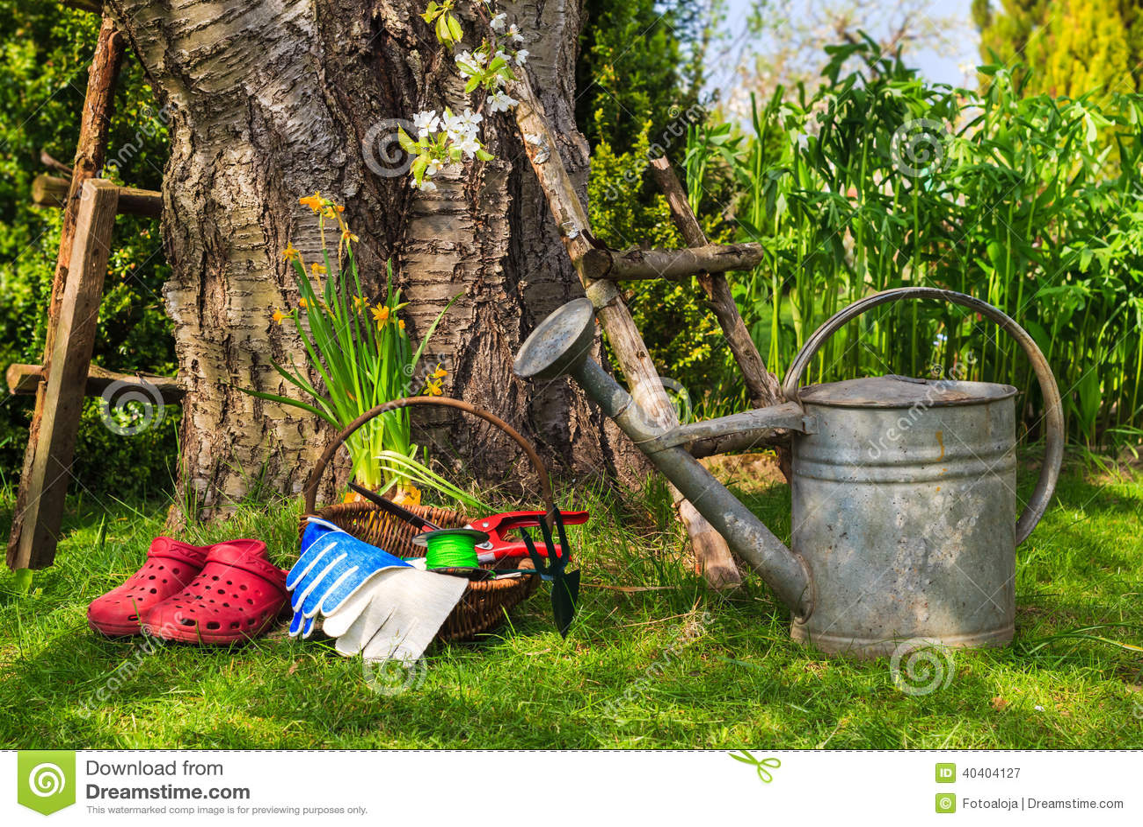Equipa el jard n de la primavera del trabajo del equipo - Lavori in giardino ...