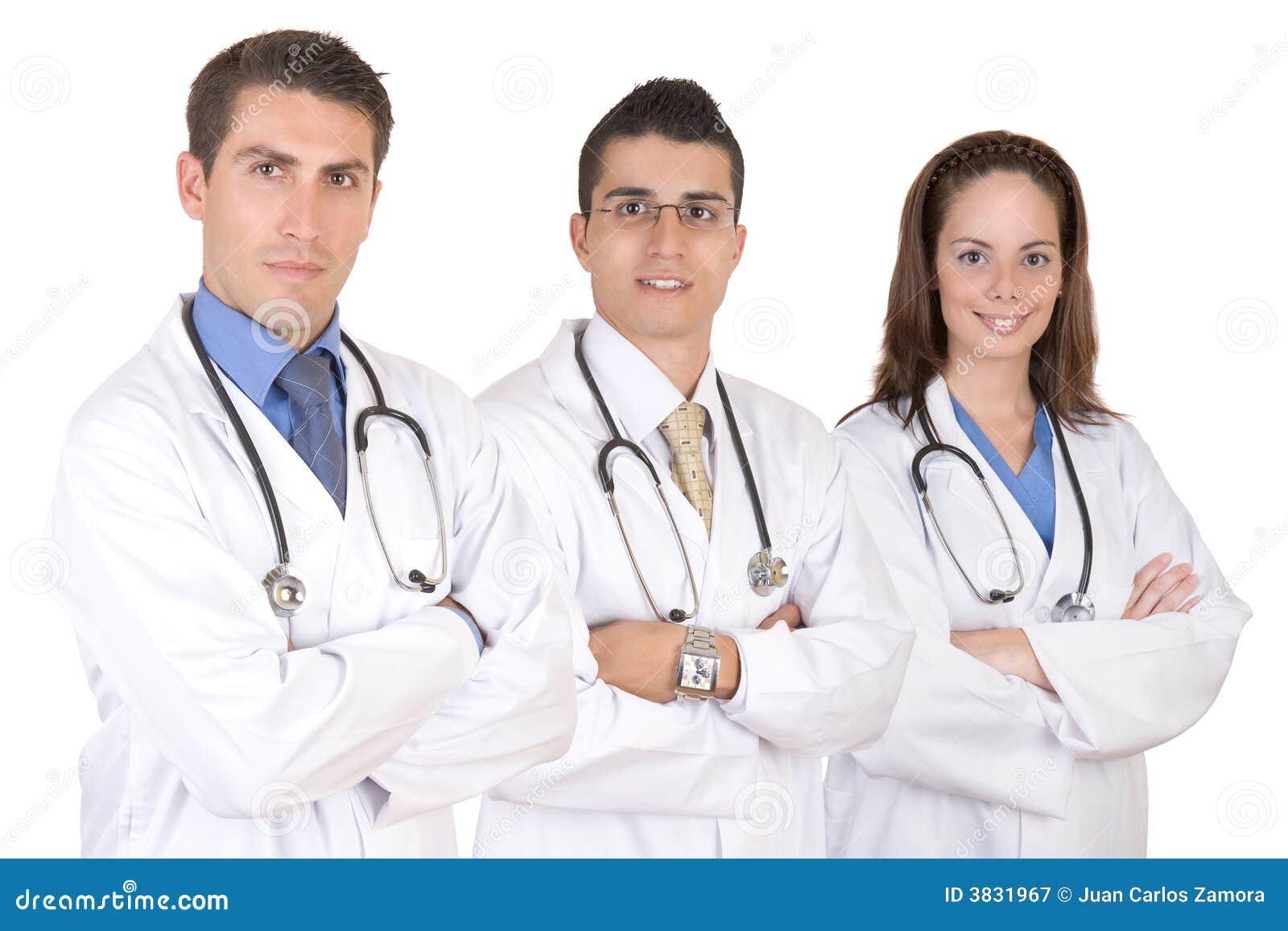 Equipa médica amigável - trabalhadores dos cuidados médicos
