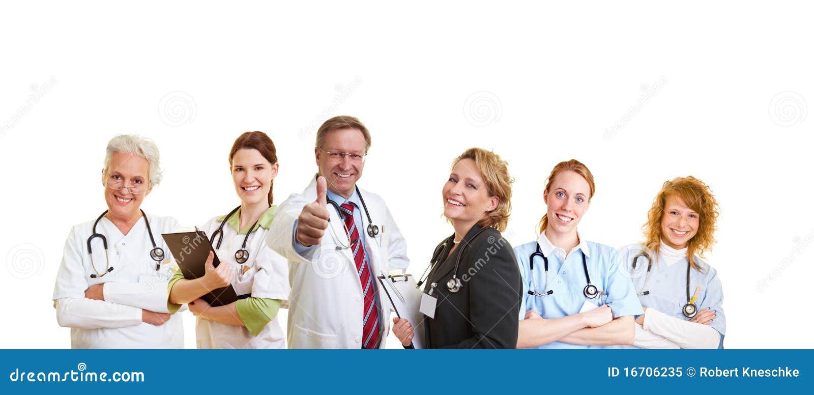 Equipa médica bem sucedida