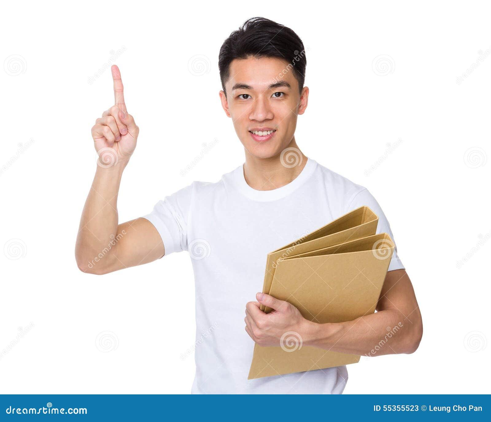 Equipaggi la tenuta con della cartella del dito ed il punto su