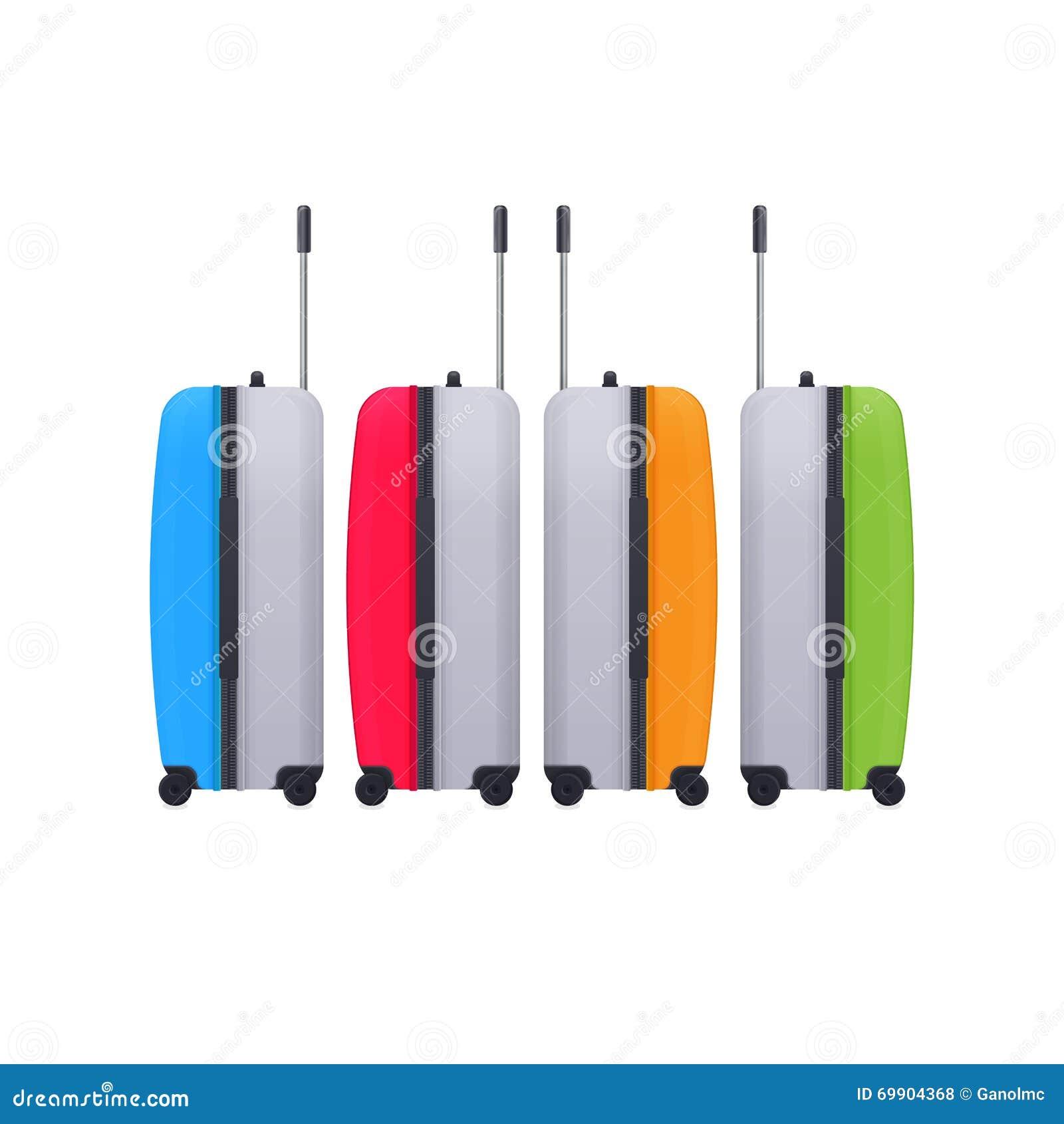 Equipaje Bolsos realistas del viaje bagaje Vector