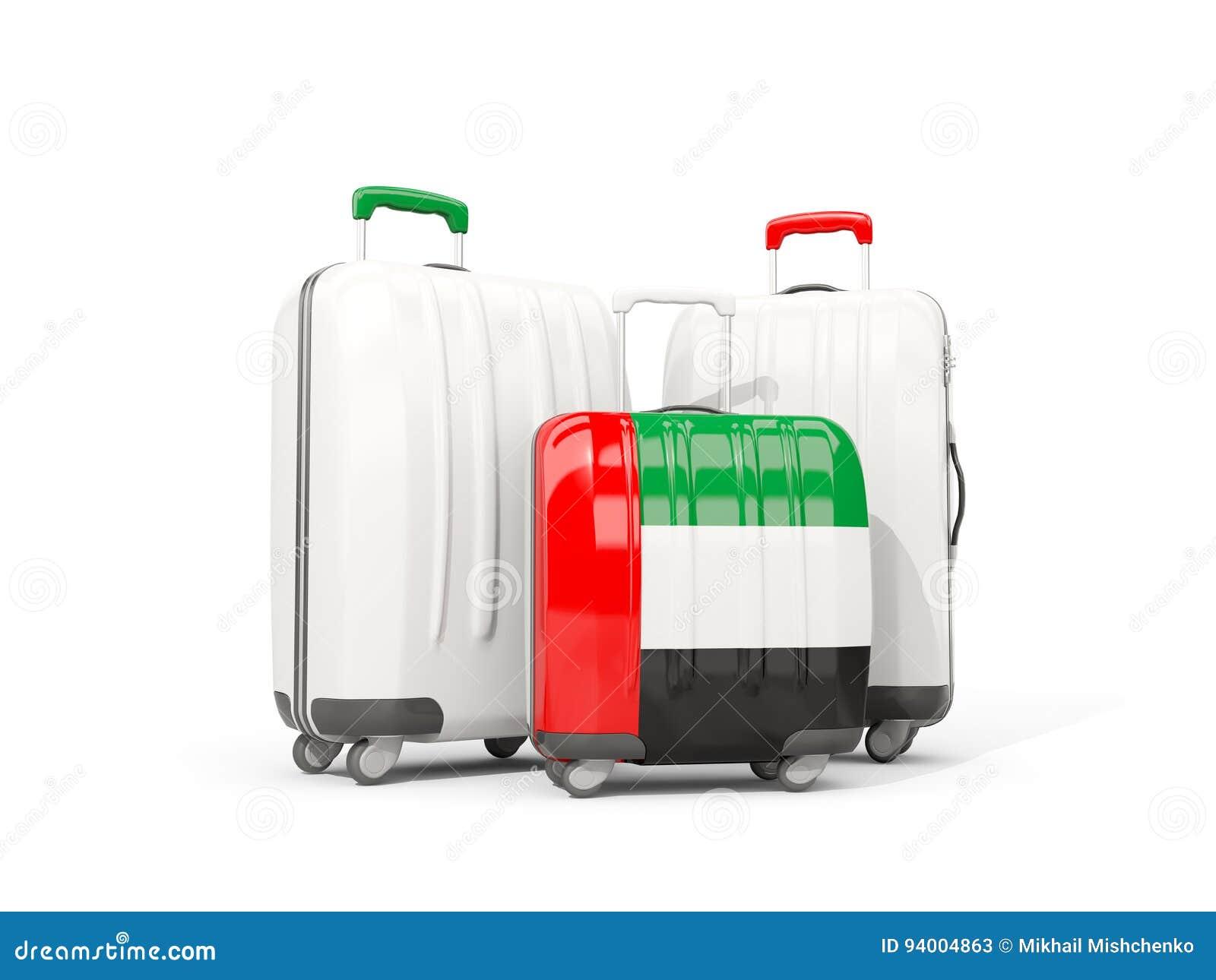 Emirates Equipaje La De Arab Tres Con Bolsos United Bandera Aislados rrYfTq