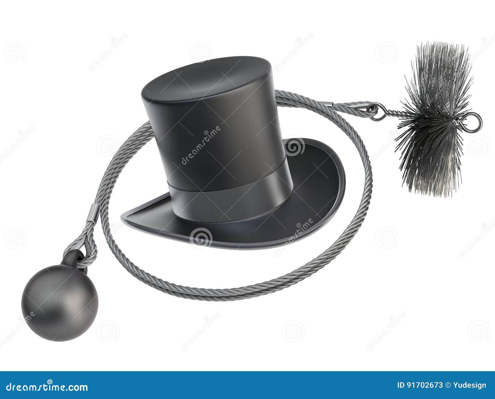 Equipamento da limpeza da vassoura da chaminé