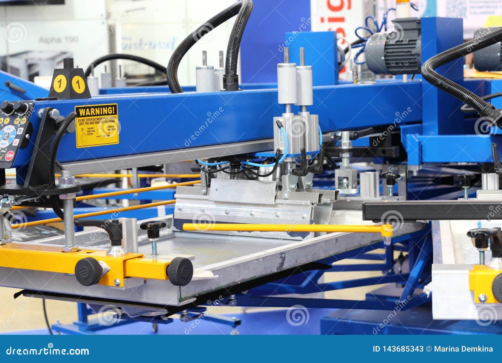 Equipamento para imprimir em matérias têxteis Máquina impressora automática
