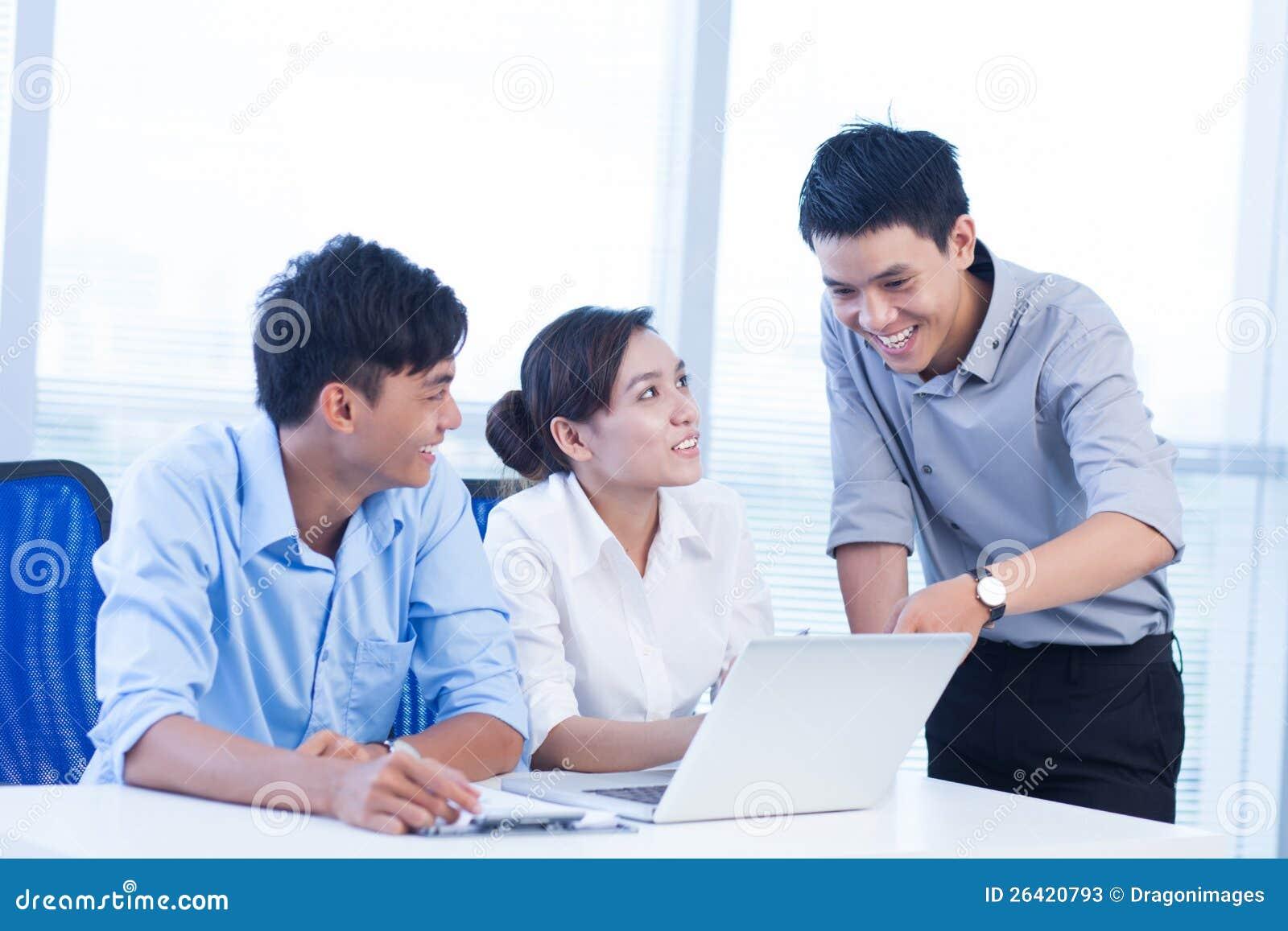 Equipe bem sucedida do negócio