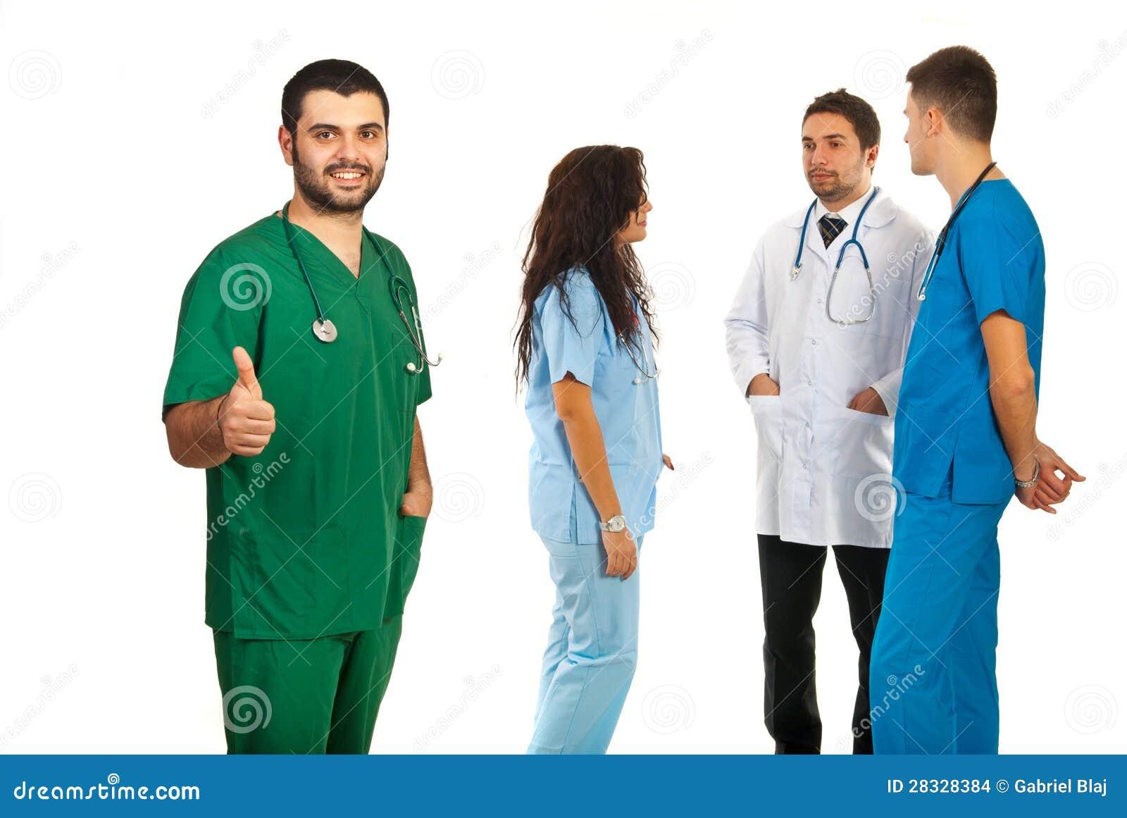 Equipe bem sucedida dos doutores
