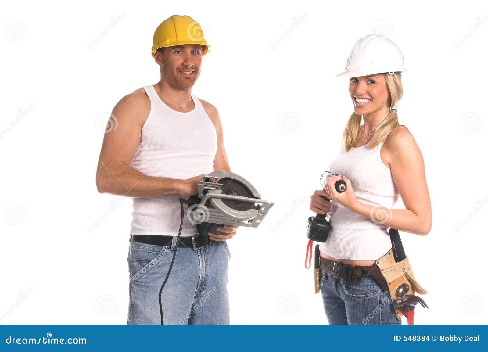 Equipe da construção