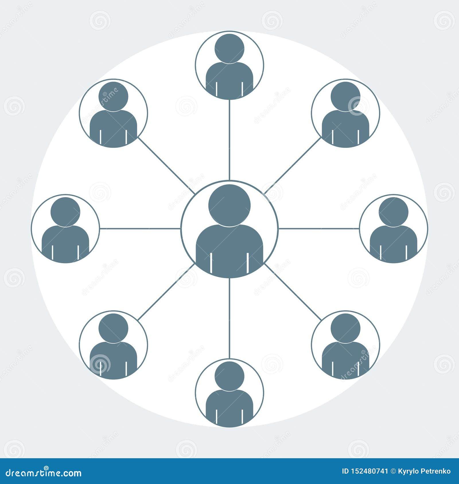 Equipe do ícone da pessoa que trabalha o projeto cinzento da cor