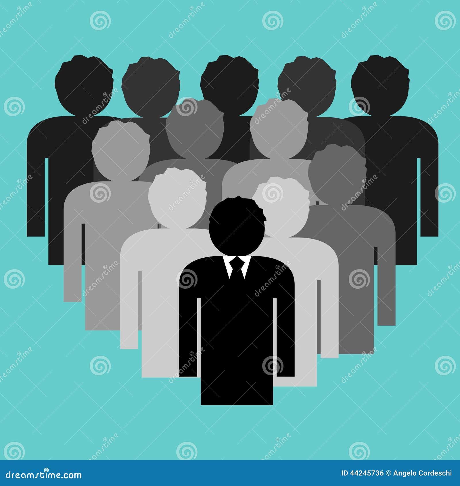 Equipe do negócio com líder do chefe