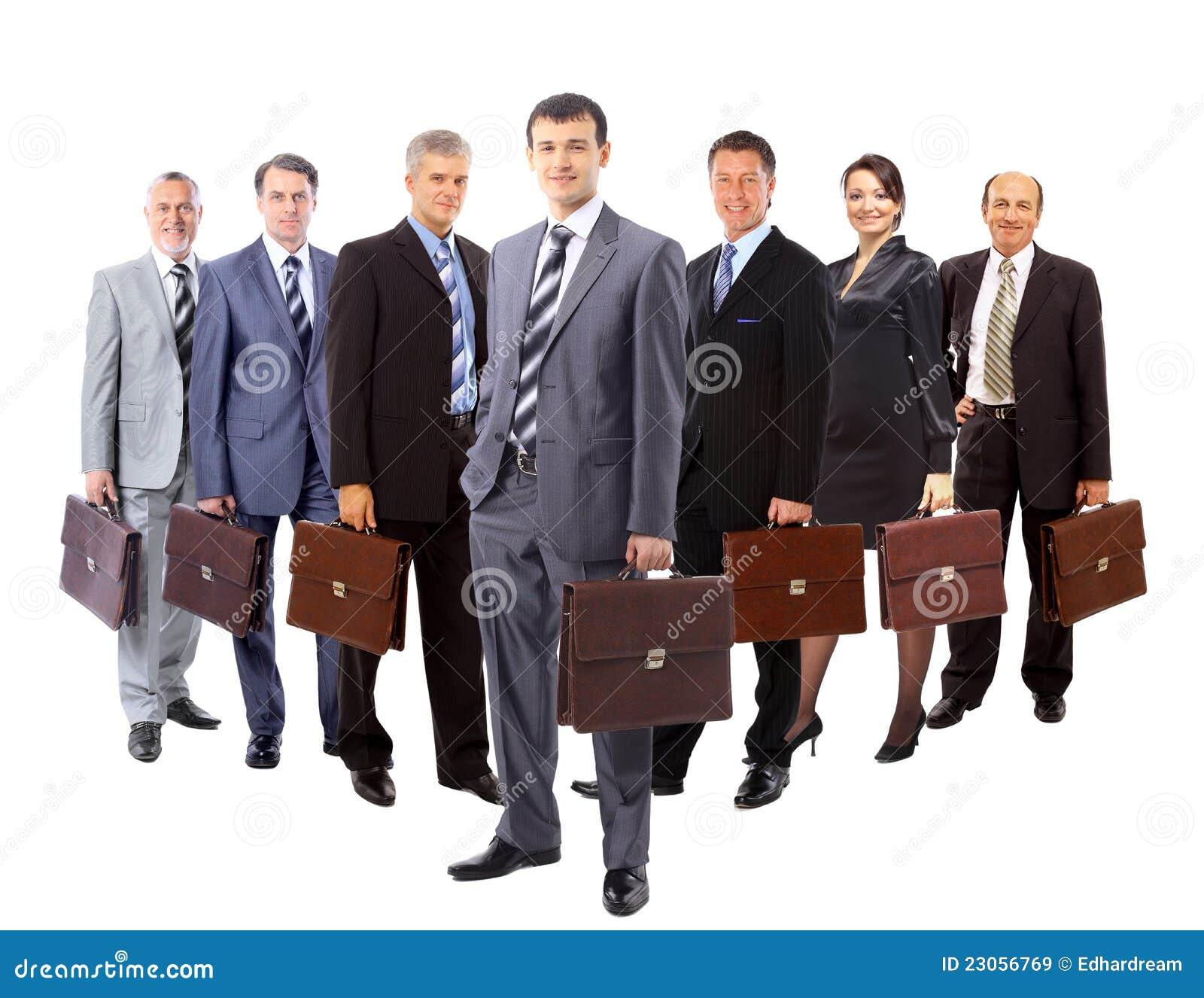 A equipe do negócio formou do st novo dos homens de negócio e das mulheres de negócio