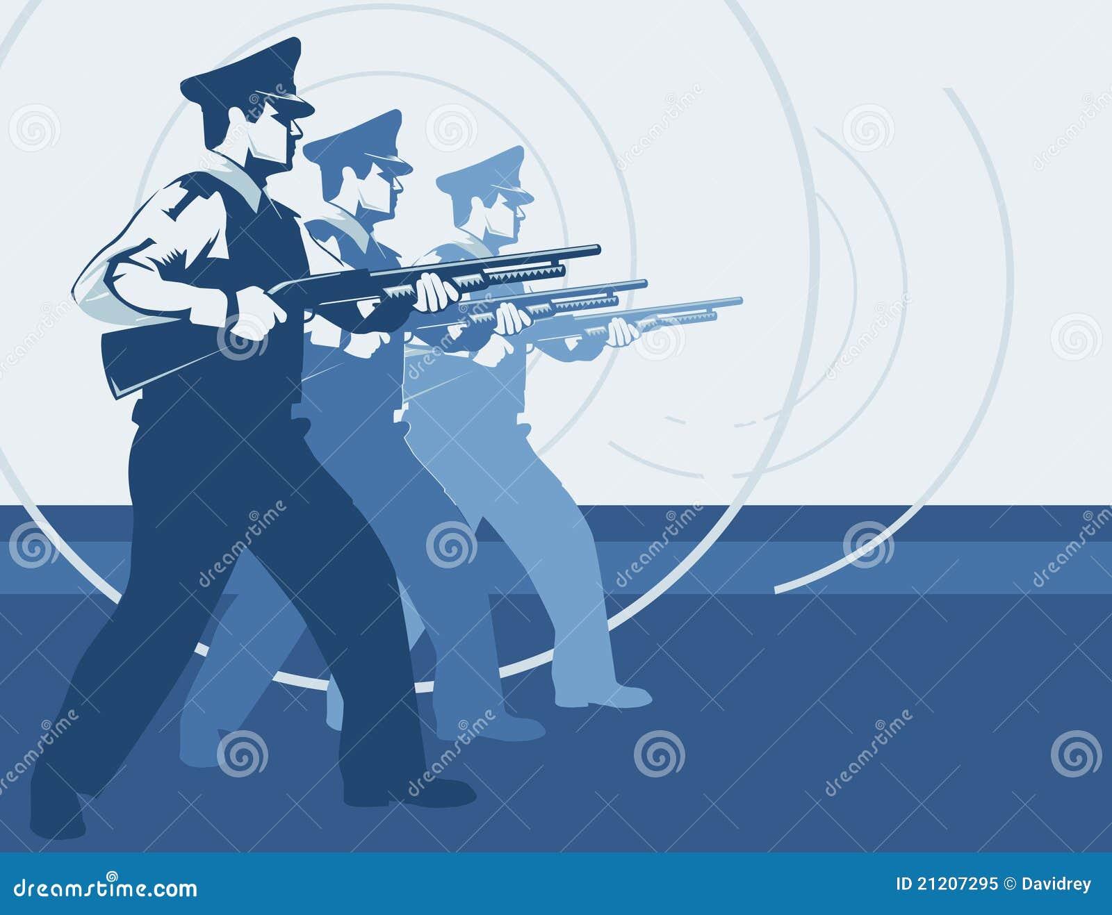 Equipe do protetor de segurança