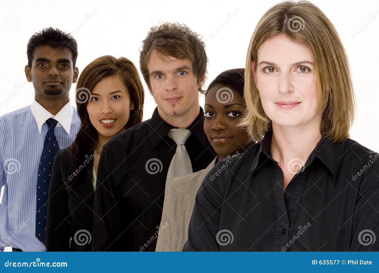 Equipe misturada do negócio