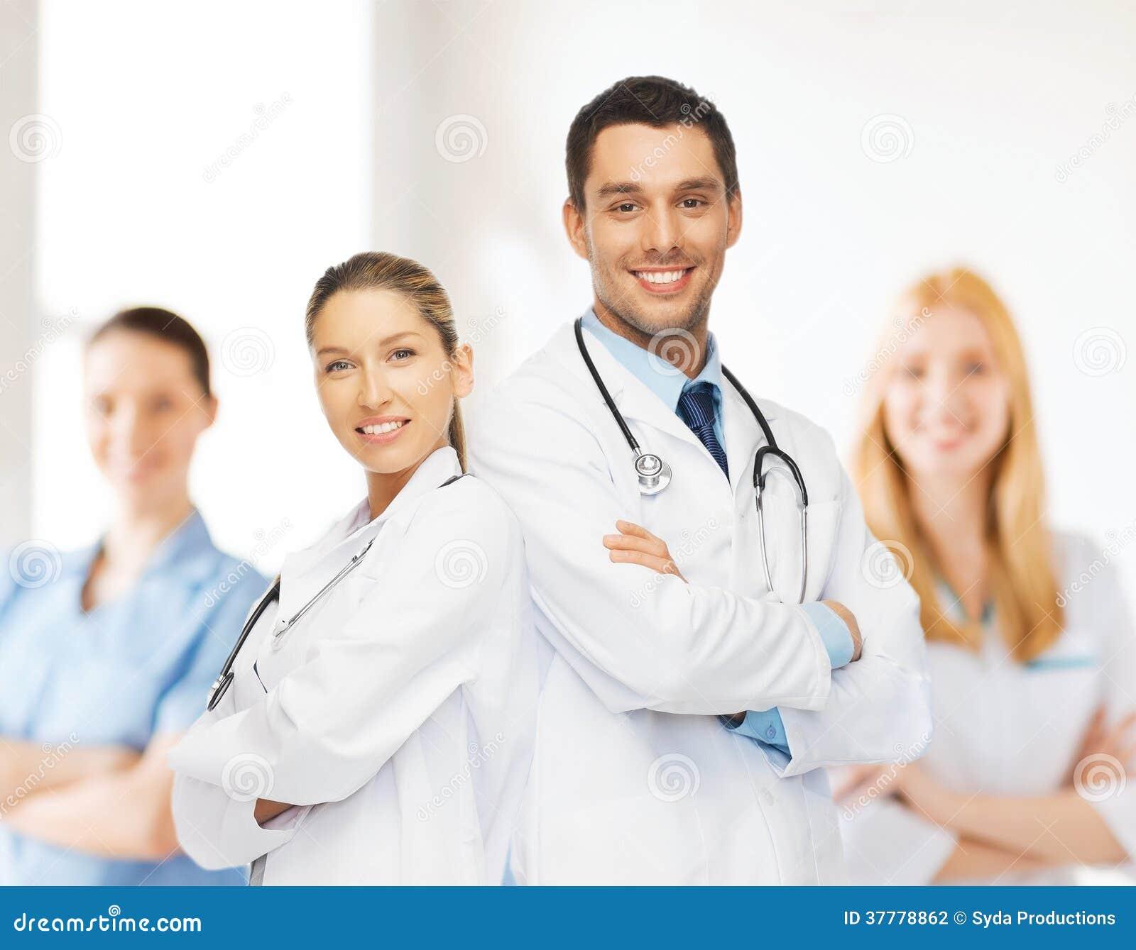 Equipe ou grupo novo de doutores