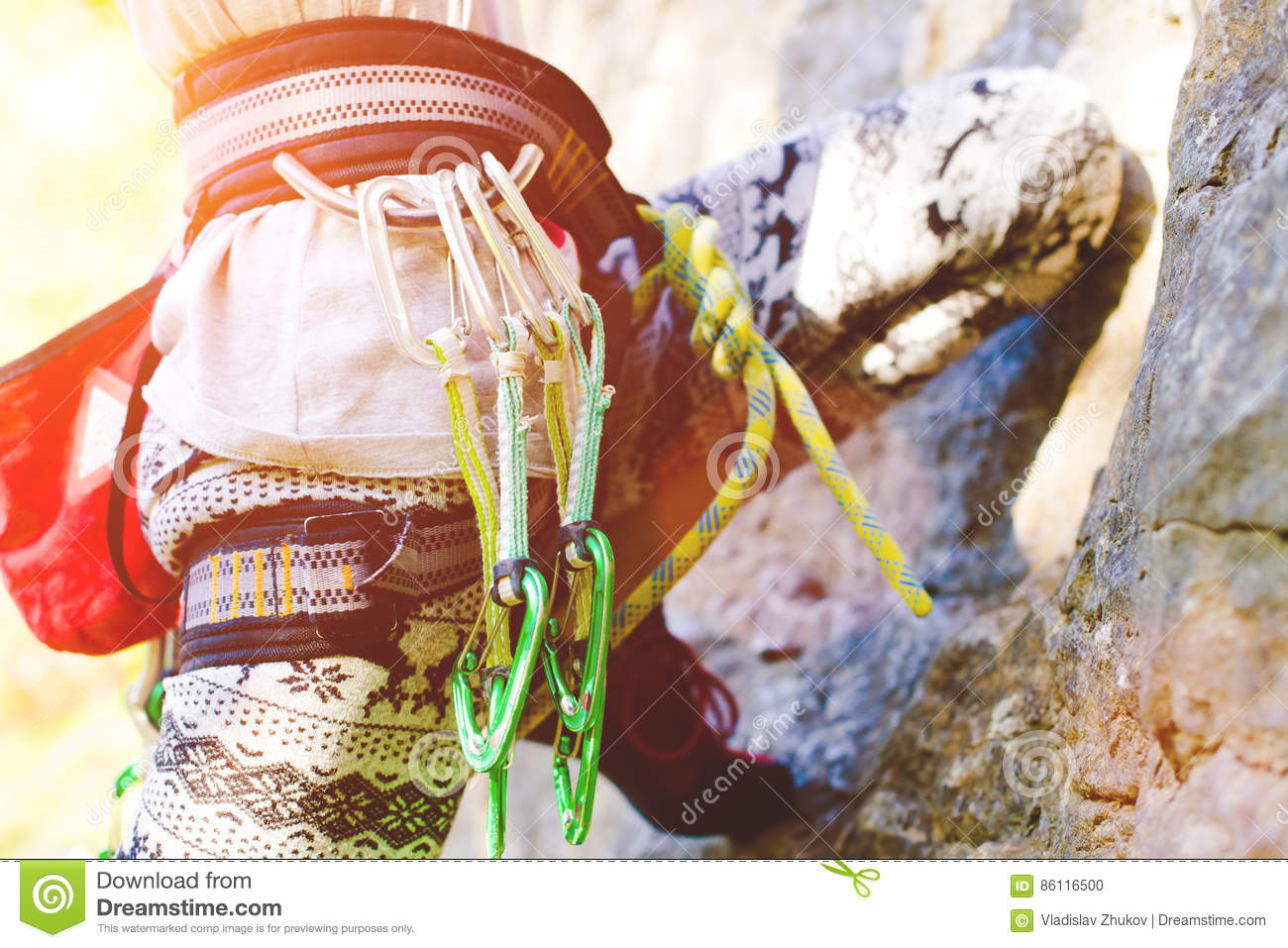Equipment For Activity Climbing. Stock Photo - Image of ...