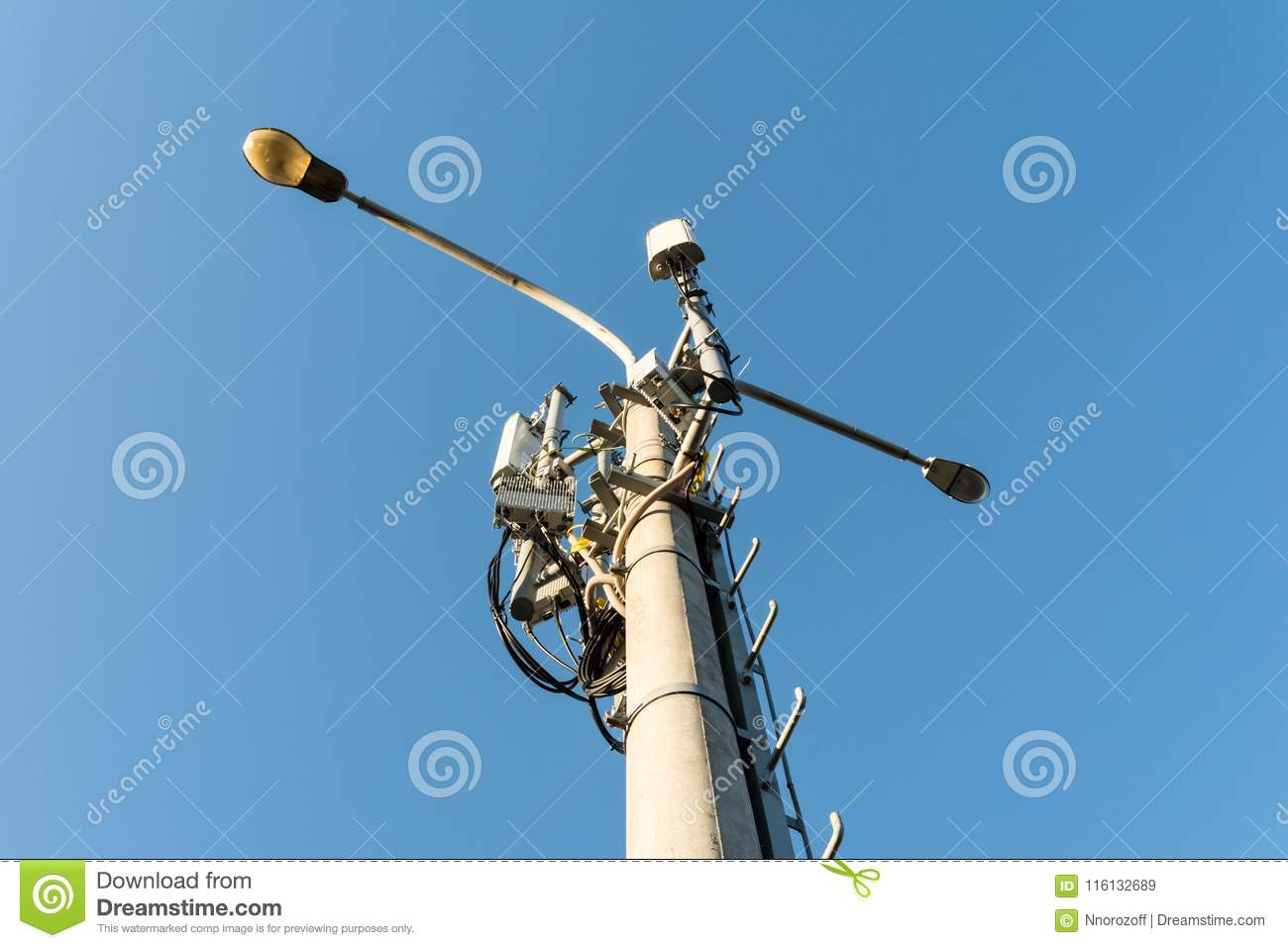Equipment And Antenna Mobile Cellular GSM Standard Is
