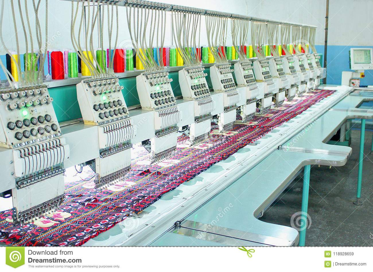 Equipment For The Application Of Embroidery Stock Image Image Of
