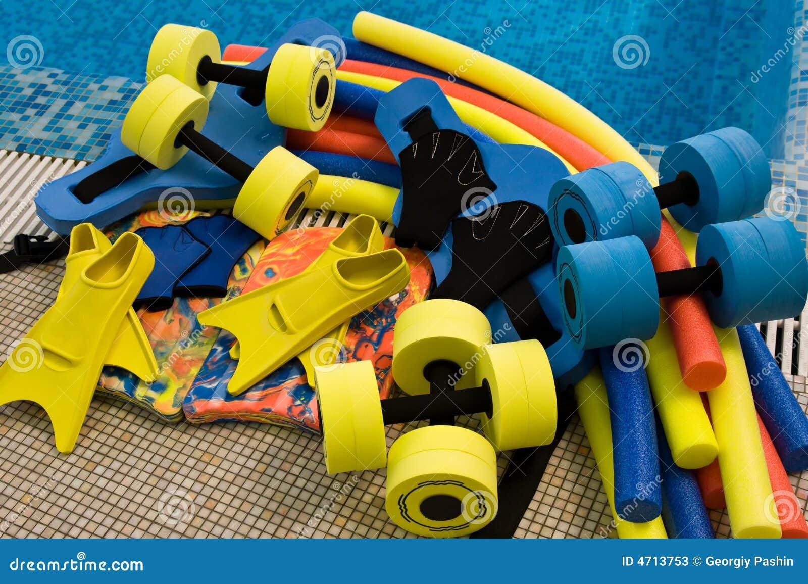 Equipment For Aqua Aerobics Stock Photos Image 4713753