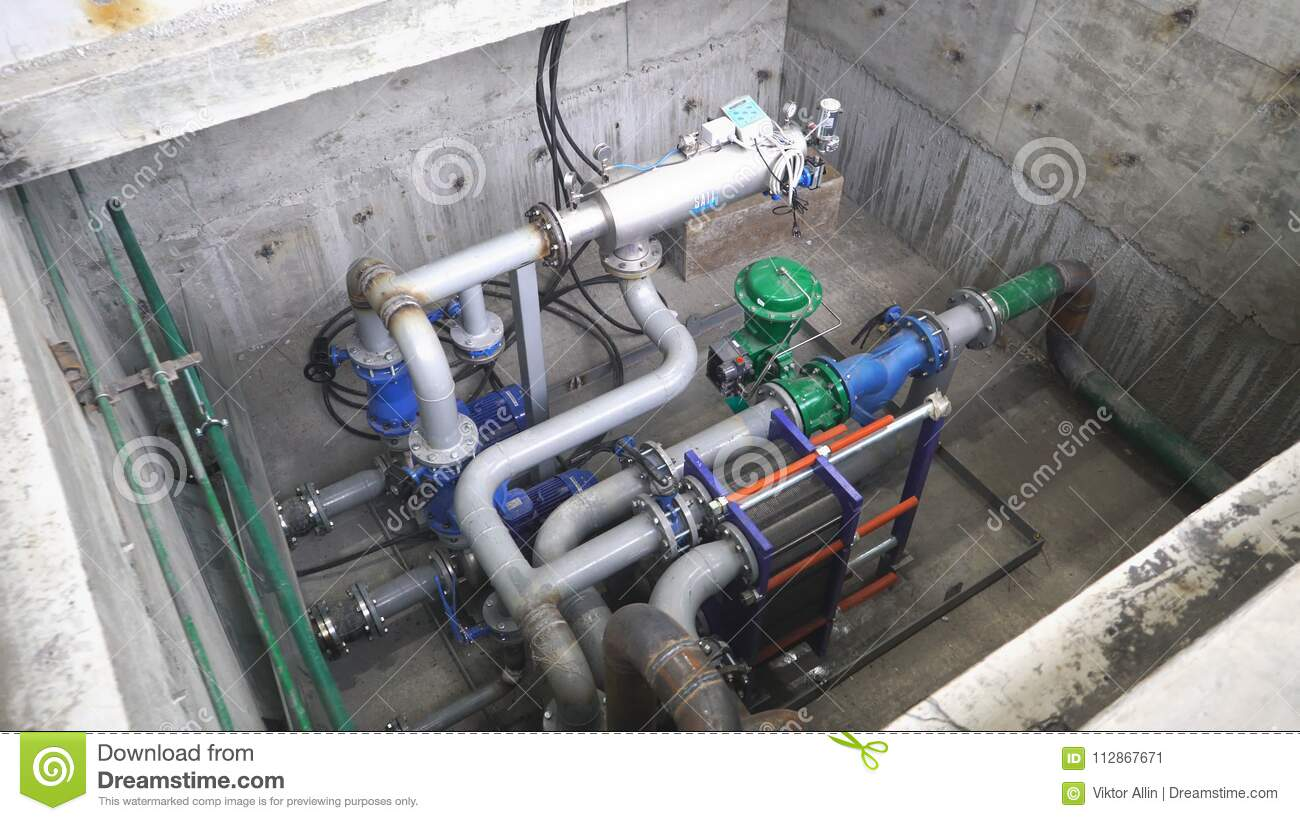 Equipment, Cables And Piping As Found Inside Of A Industrial Power ...