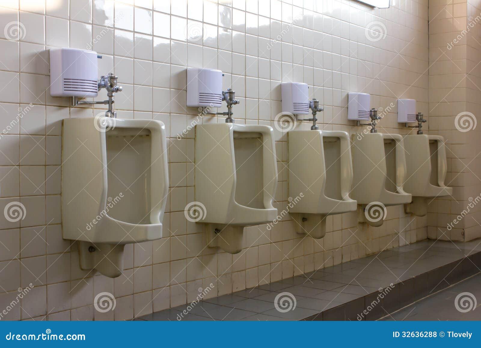 Equipment comfort male in Toilet Urinals. Equipment Comfort Male In Toilet Urinals Royalty Free Stock Photos