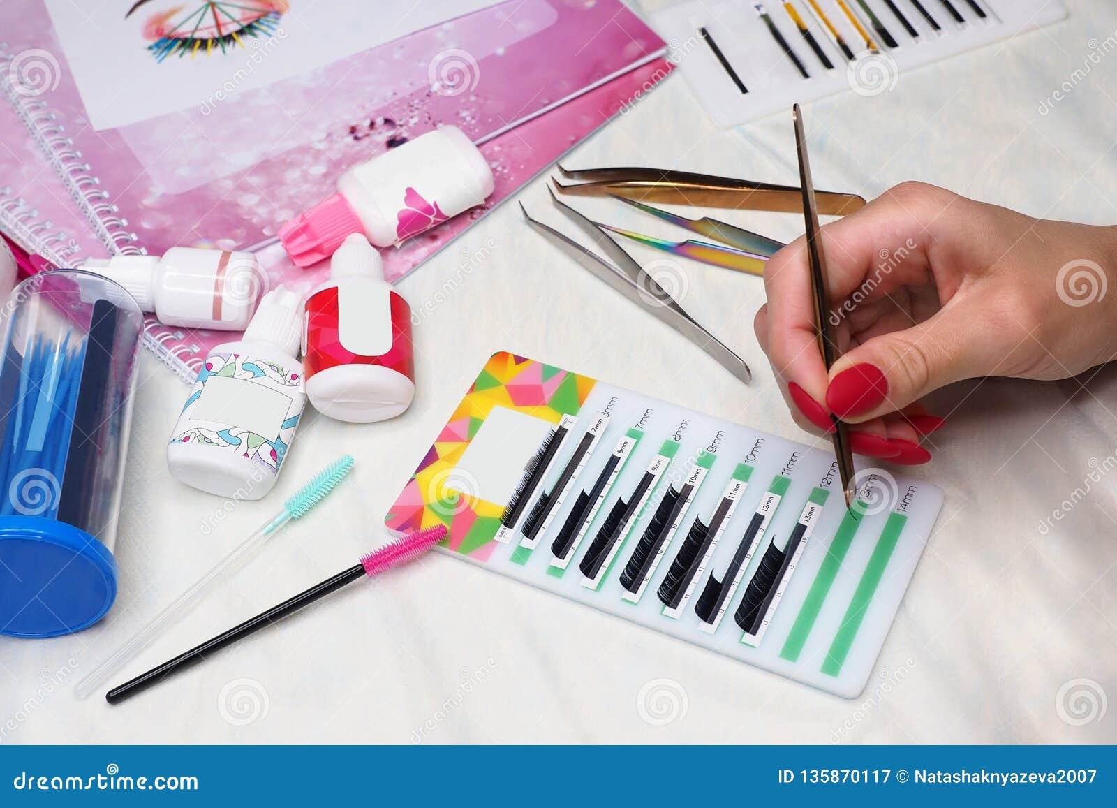 Equipment of eyelash extension, basic training and practice