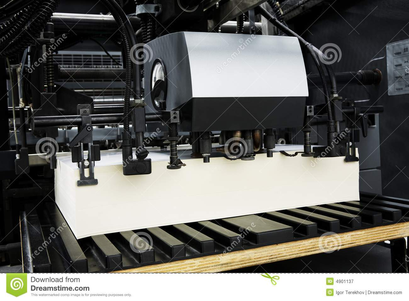 The equipment for a press