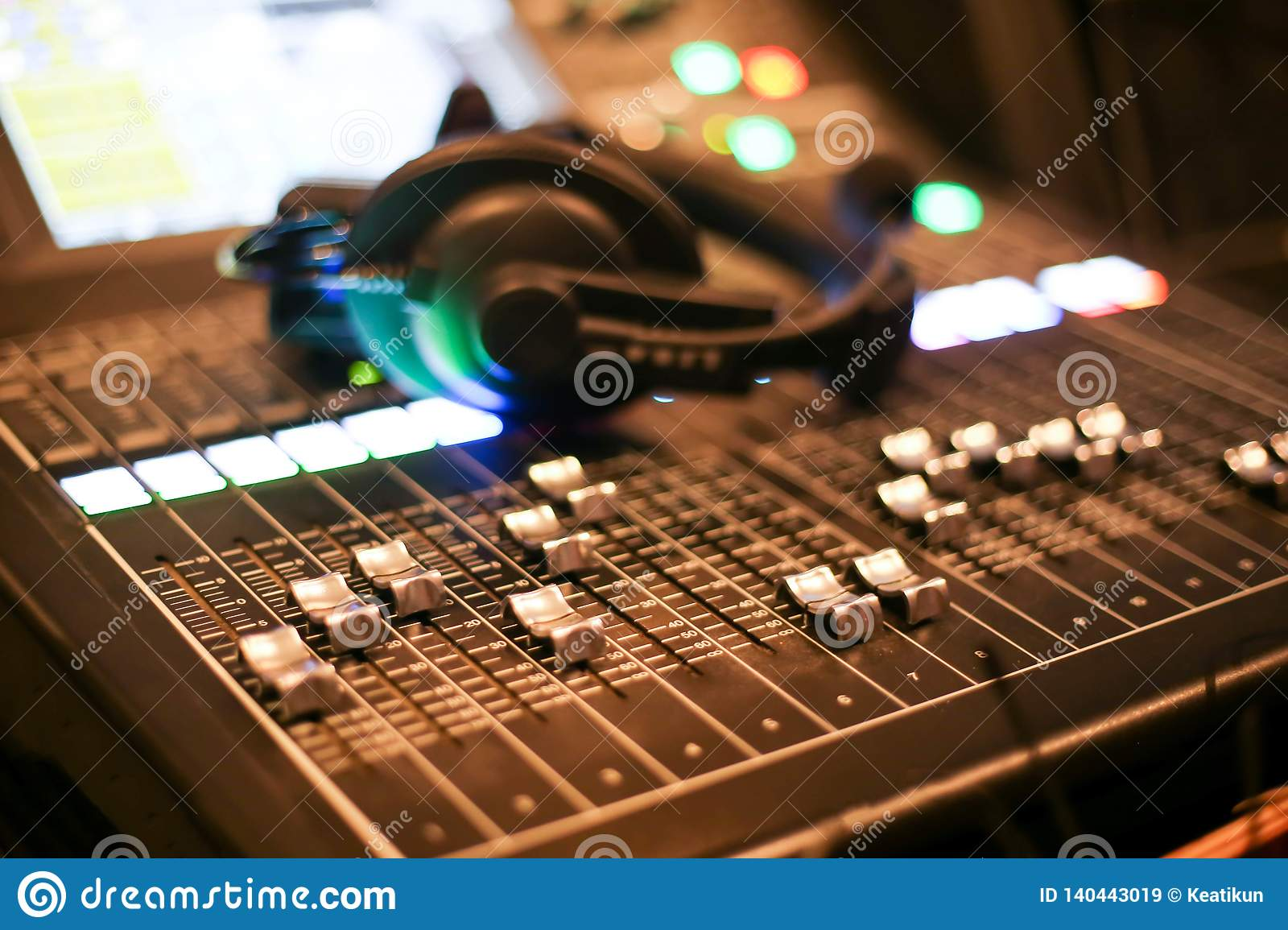 Equipment For Sound Mixer Control In Studio TV Station