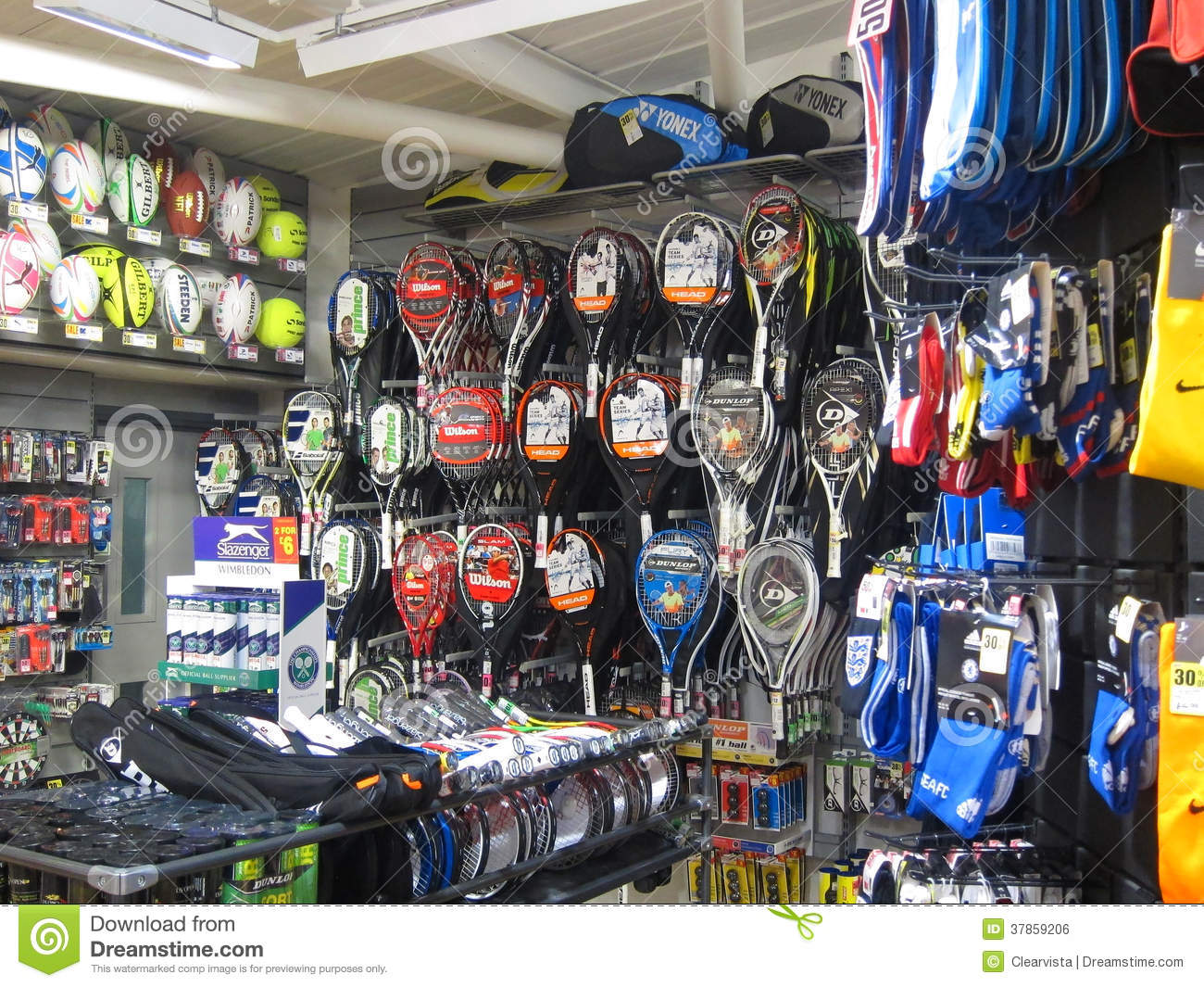 Equipment In A Sports Store. Editorial Photo - Image: 37859206