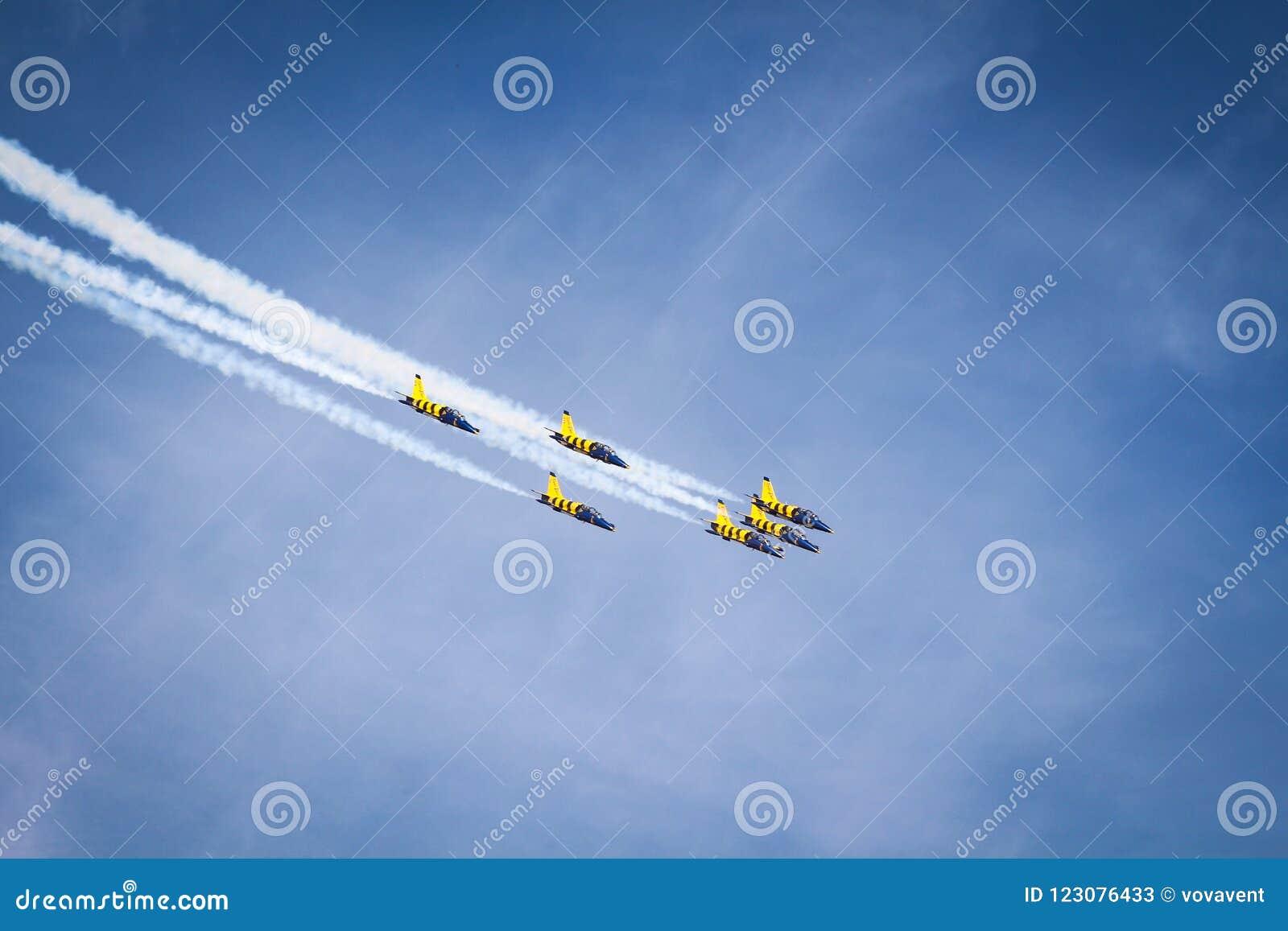 Equipo báltico de las acrobacias aéreas del ` de las abejas del `